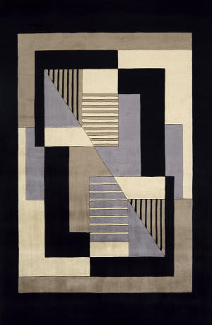 Momeni New Wave Nw-06 Black Area Rug