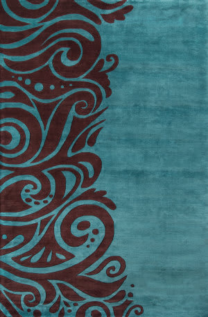 Momeni New Wave Nw-88 Turquoise Area Rug