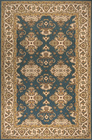 Momeni Persian Garden Pg-01 Teal Blue Area Rug