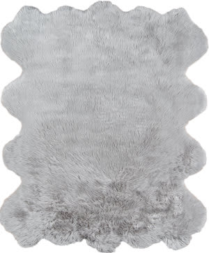 Momeni Sable Faux Fur SBL-1 Grey Area Rug