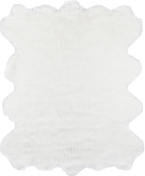 Momeni Sable Faux Fur SBL-1 Ivory Area Rug