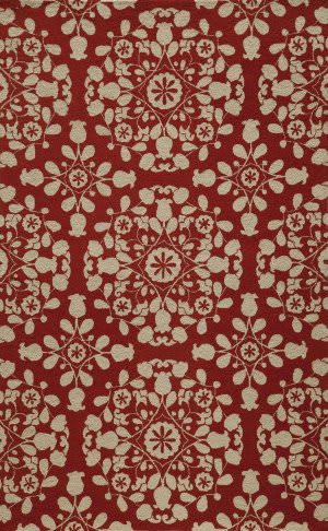 Momeni Suzani Hook Szi-4 Red Area Rug