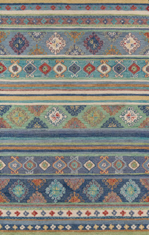 Momeni Tangier Tan32 Blue Area Rug