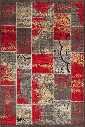 Momeni Vogue Vg-01 Red Area Rug
