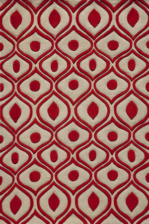 Momeni Bliss Bs-09 Red Area Rug