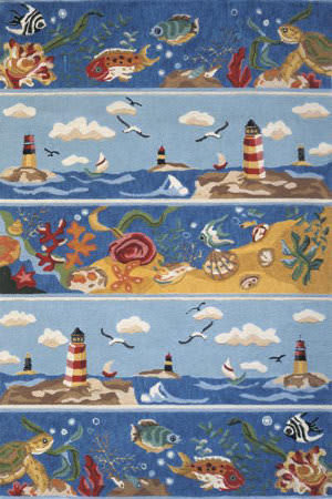 Momeni Coastal Cc-07 Blue Area Rug