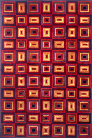 Momeni New Wave Nw-53 Red Area Rug