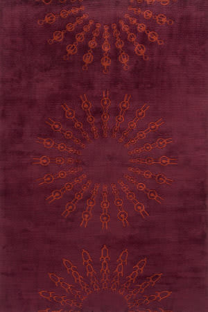 Momeni New Wave Nw107 Burgundy Area Rug