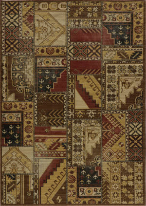 Momeni Vintage Vin-8 Tribal Gold Area Rug