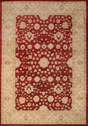 Momeni Ziegler Ze-01 Red Area Rug