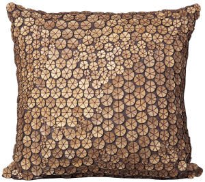 Nourison Pillows Button 4002 Brown