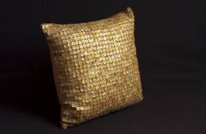 Nourison Pillows Button 4003 Yellow
