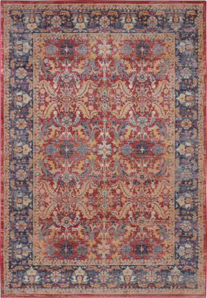 Nourison Global Vintage Glb02 Red Area Rug