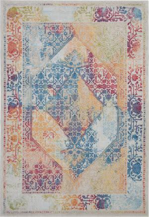 Nourison Global Vintage Glb04 Ivory - Multicolor Area Rug