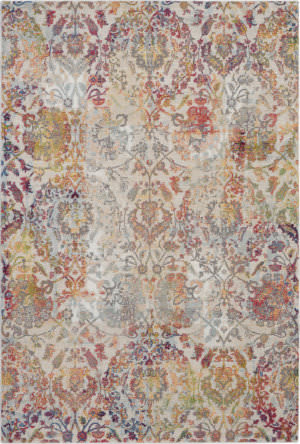 Nourison Global Vintage Glb06 Ivory - Orange Area Rug