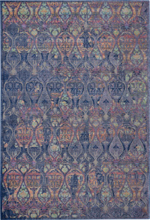 Nourison Global Vintage Glb08 Navy - Multicolor Area Rug