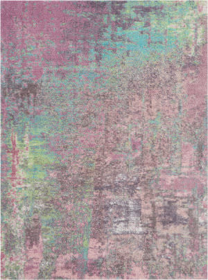 Nourison Abstract Shag Abs02 Pink Area Rug