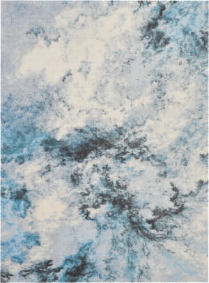 Nourison Abstract Shag Abs04 Blue - Multicolor Area Rug