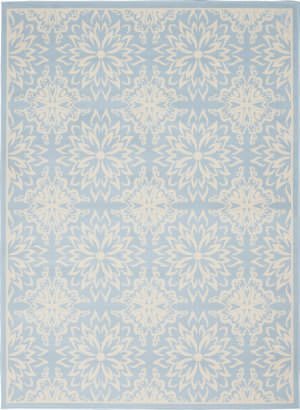 Nourison Jubilant Jub06 Ivory - Light Blue Area Rug