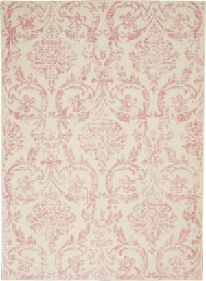 Nourison Jubilant Jub09 Ivory - Pink Area Rug