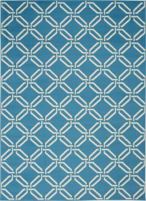 Nourison Jubilant Jub17 Blue Area Rug