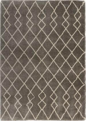 Nourison Geometric Shag Gos01 Silver Area Rug