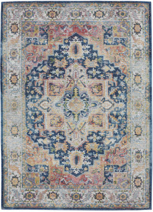 Nourison Ankara Global Anr11 Blue - Multicolor Area Rug