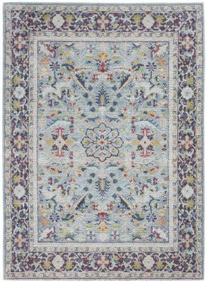 Nourison Ankara Global Anr14 Teal - Multicolor Area Rug