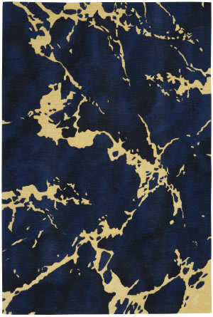 Nourison Symmetry Smm09 Navy Area Rug