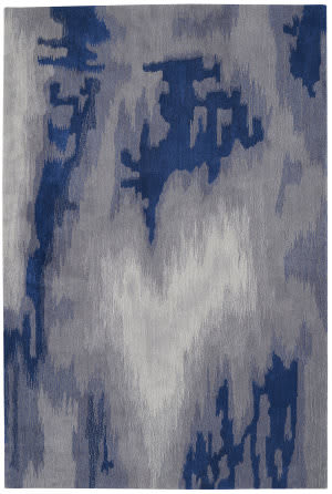 Nourison Symmetry Smm10 Grey - Blue Area Rug