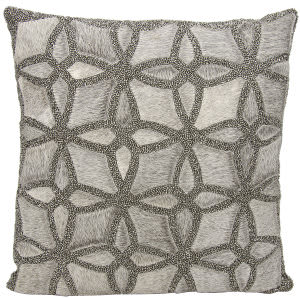 Nourison Mina Victory Pillows A0019 Grey Pewter