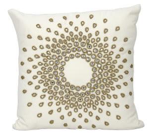 Nourison Mina Victory Pillows A0140 Bronze