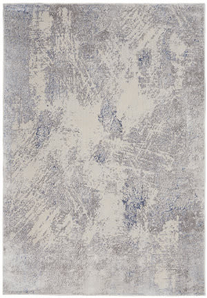 Nourison Silky Textures Sly06 Ivory - Grey Area Rug