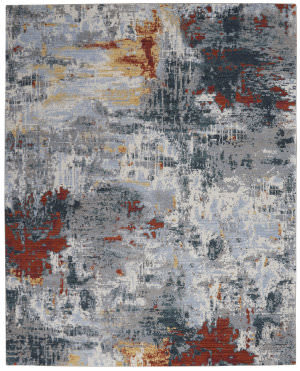 Nourison Artworks Atw03 Slate - Brick Area Rug