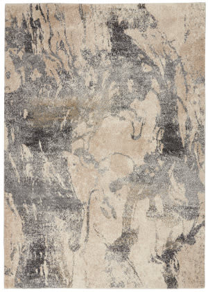 Nourison Fusion Fss16 Cream Grey Area Rug