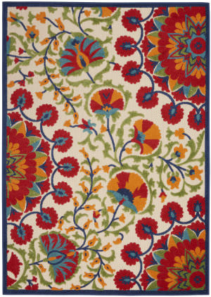 Nourison Aloha Alh20 Red - Multicolor Area Rug