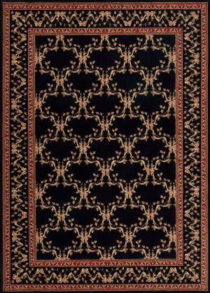 Nourison Ashton House AS-07 Black Area Rug