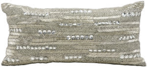 Nourison Pillows Luminescence At697 Silver