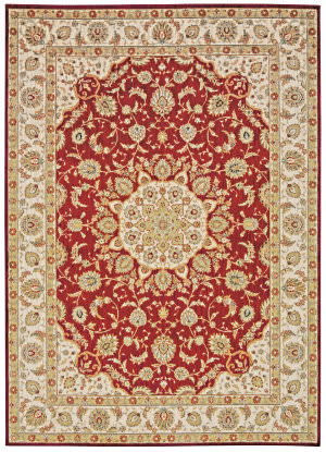 Kathy Ireland Ki12 Babylon Bab02 Red Area Rug