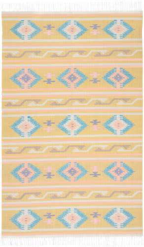 Nourison Baja Baj03 Yellow Area Rug