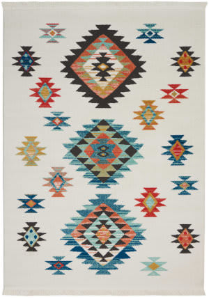 Nourison Tribal Decor Trl07 White Area Rug