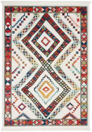 Nourison Tribal Decor Trl02 White Area Rug