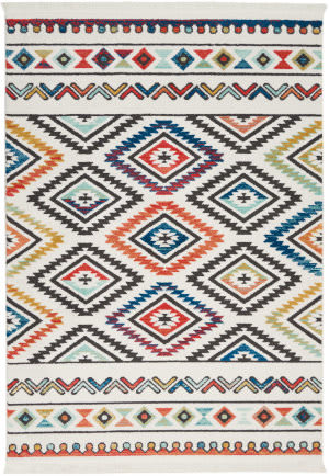 Nourison Tribal Decor Trl06 White Area Rug