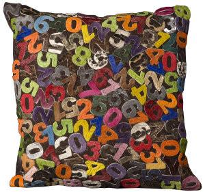 Nourison Pillows Natural Leather Hide C3500 Multicolor