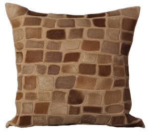 Nourison Pillows Natural Leather Hide C5500 Amber
