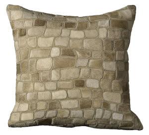 Nourison Pillows Natural Leather Hide C5500 Beige