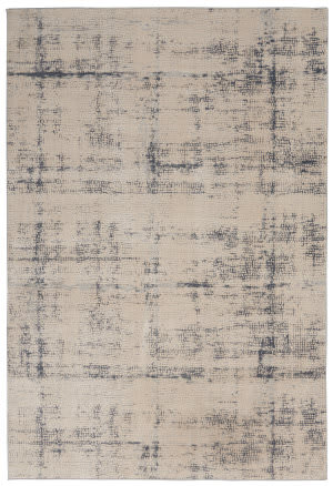 Nourison Rustic Textures Rus06 Ivory - Blue Area Rug