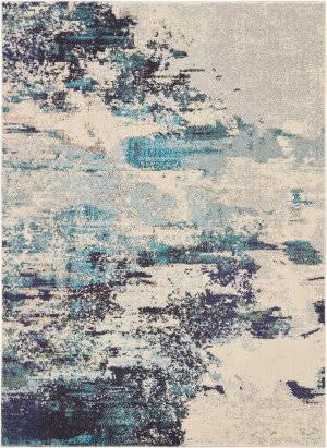Nourison Celestial Ces02 Ivory - Teal Blue Area Rug