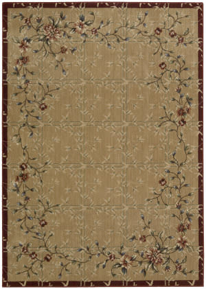 Nourison Cambridge CG-07 Beige-Red Area Rug