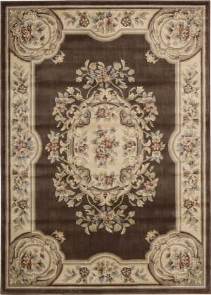 Nourison Chateau Cht01 Brown Area Rug